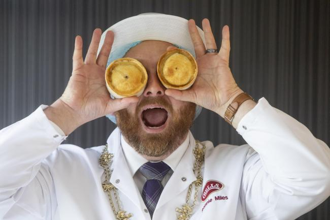 President of the Scottish bakers Ronnie Miles at the judging for the 20th annual World Championship Scotch Pie Awards in Dunfermline.