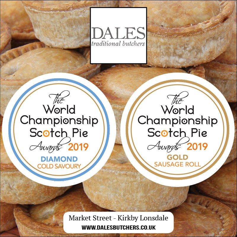 The World Championship Scotch Pie Awards presented to Dales Traditional Butchers of Kirkby Lonsdale